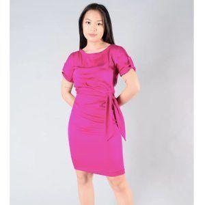 Diane Von Furstenberg Magenta S/S Silk Dress